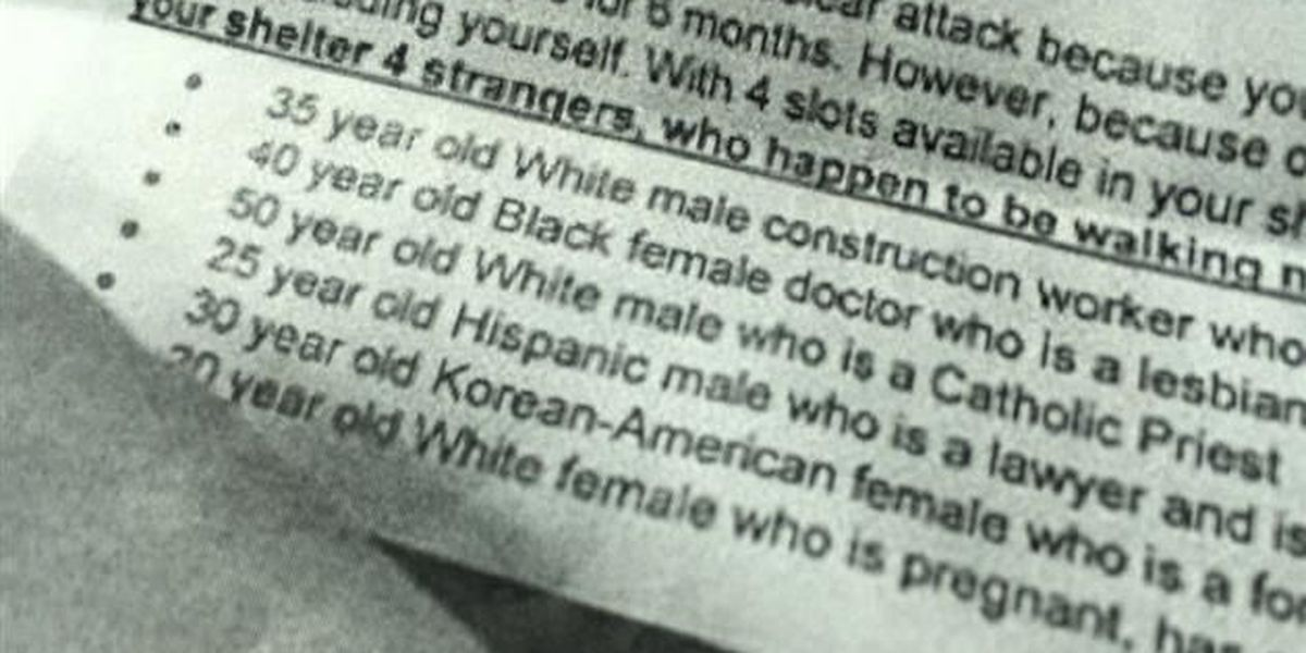 Parents say school 'bomb shelter' assignment promotes racism