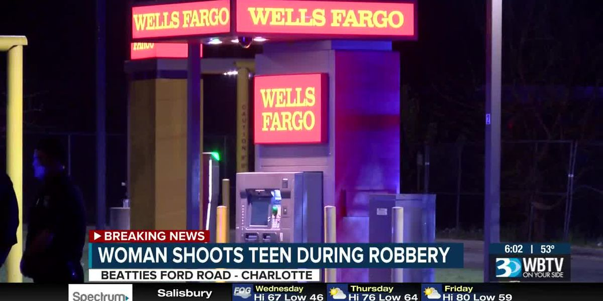 Police: Woman shoots teen after 5 people try to rob her at west Charlotte ATM