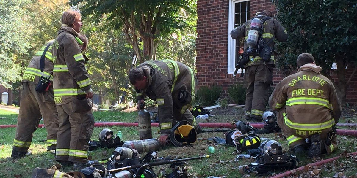 Firefighters injured fighting Charlotte house fire