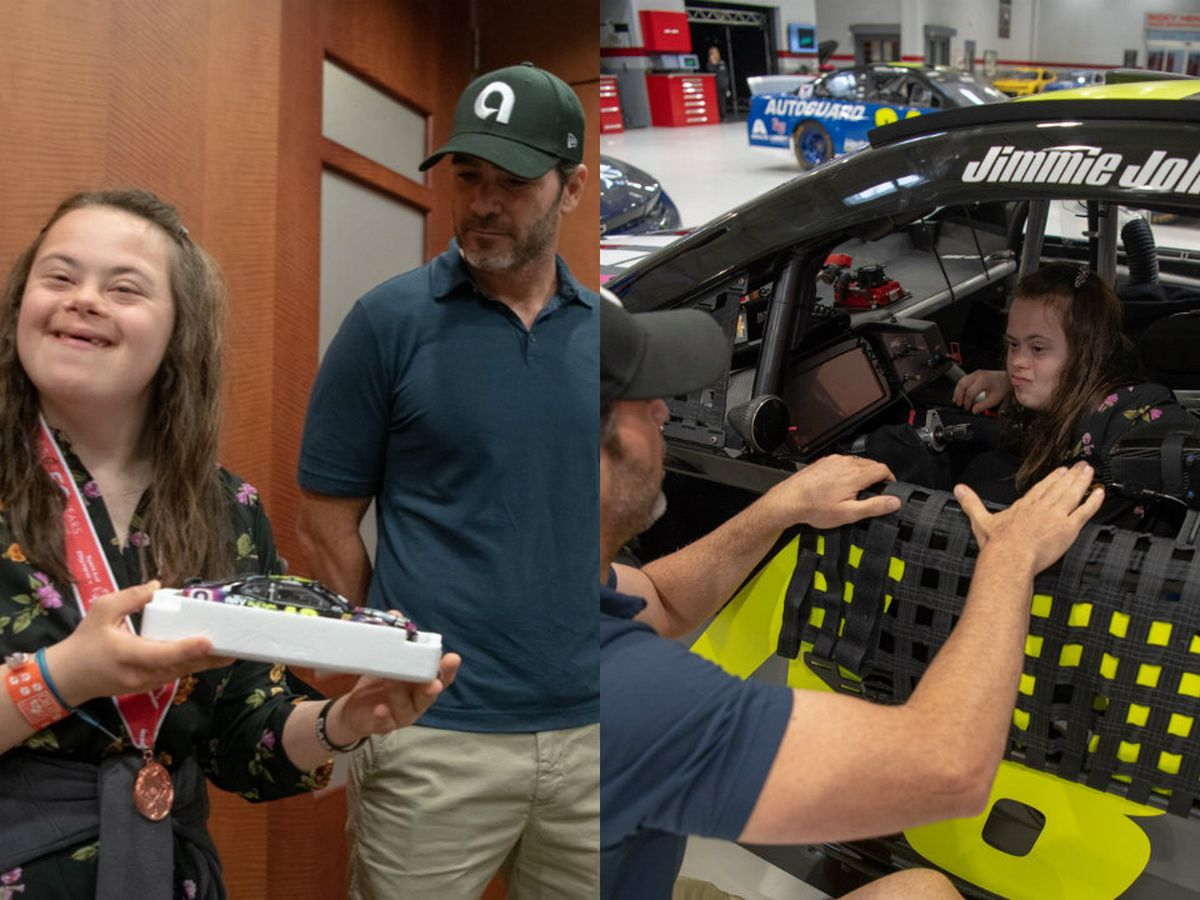 NASCAR Champ Jimmie Johnson makes Stanly County girl's dream come true