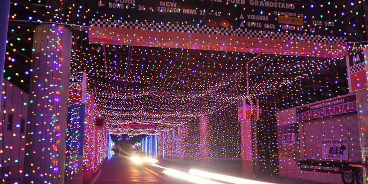 Speedway Christmas Lights.Christmas Lights Charity 5k Coming To Charlotte Motor Speedway