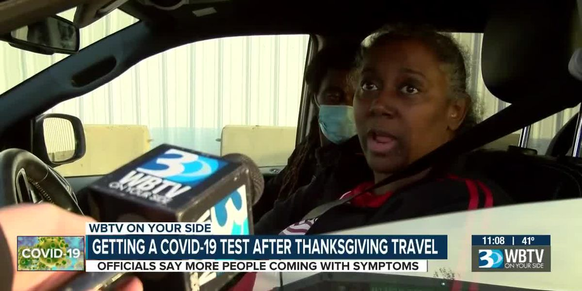 Getting a COVID-19 test after Thanksgiving travel