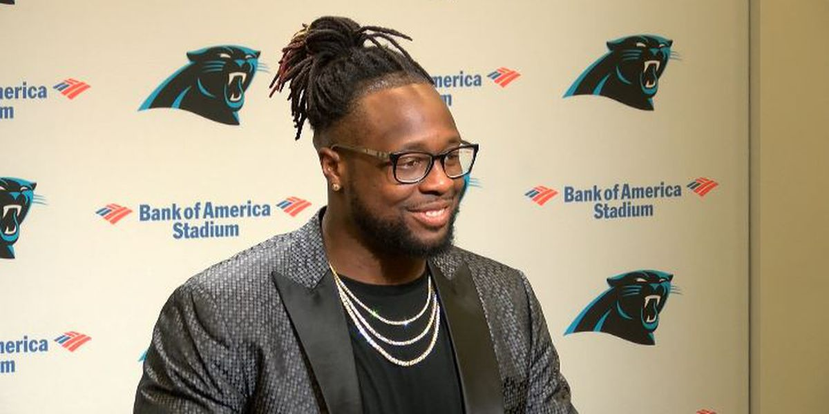 Gerald McCoy introduced as the newest member of the Carolina Panthers