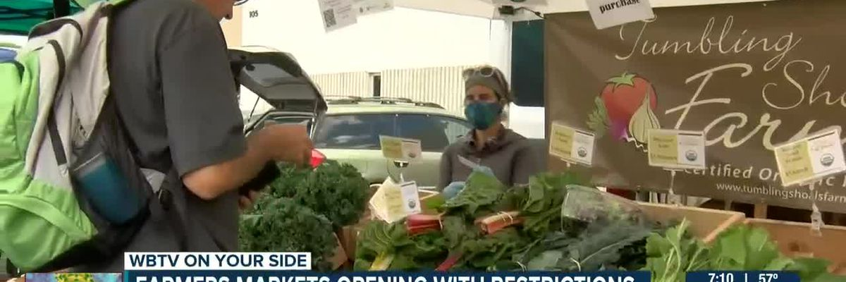 Farmers markets opening with restrictions