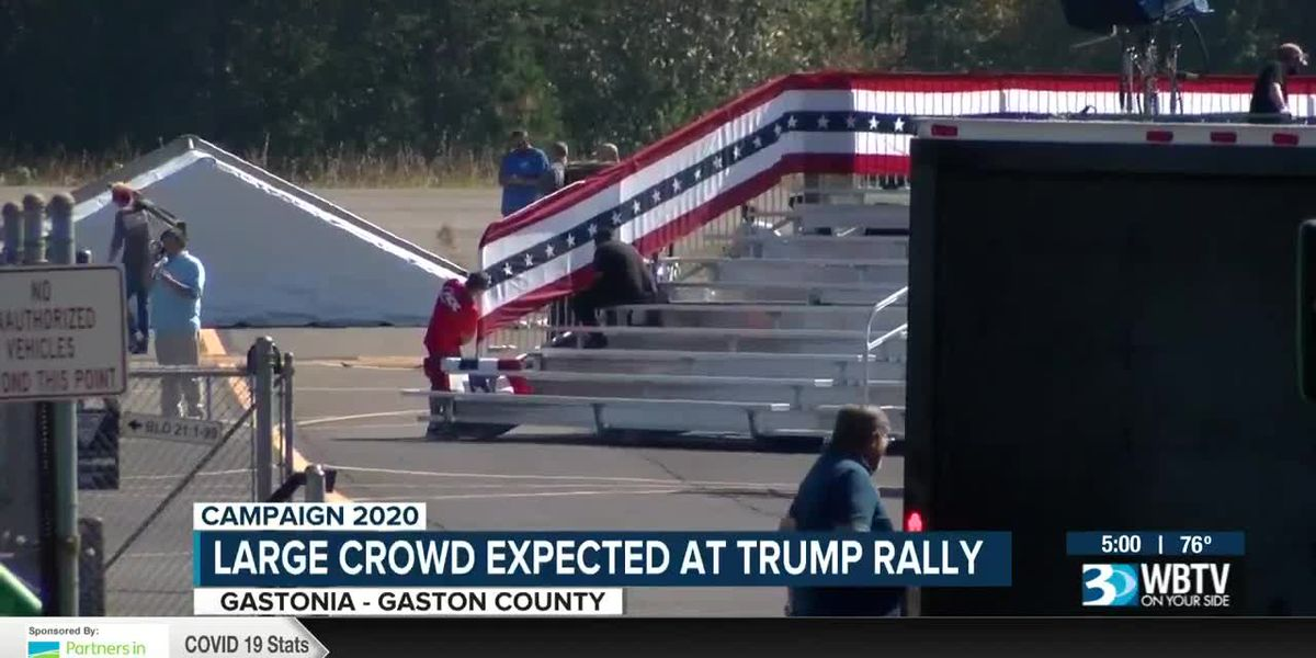 Large crowd expected at Trump rally in Gastonia