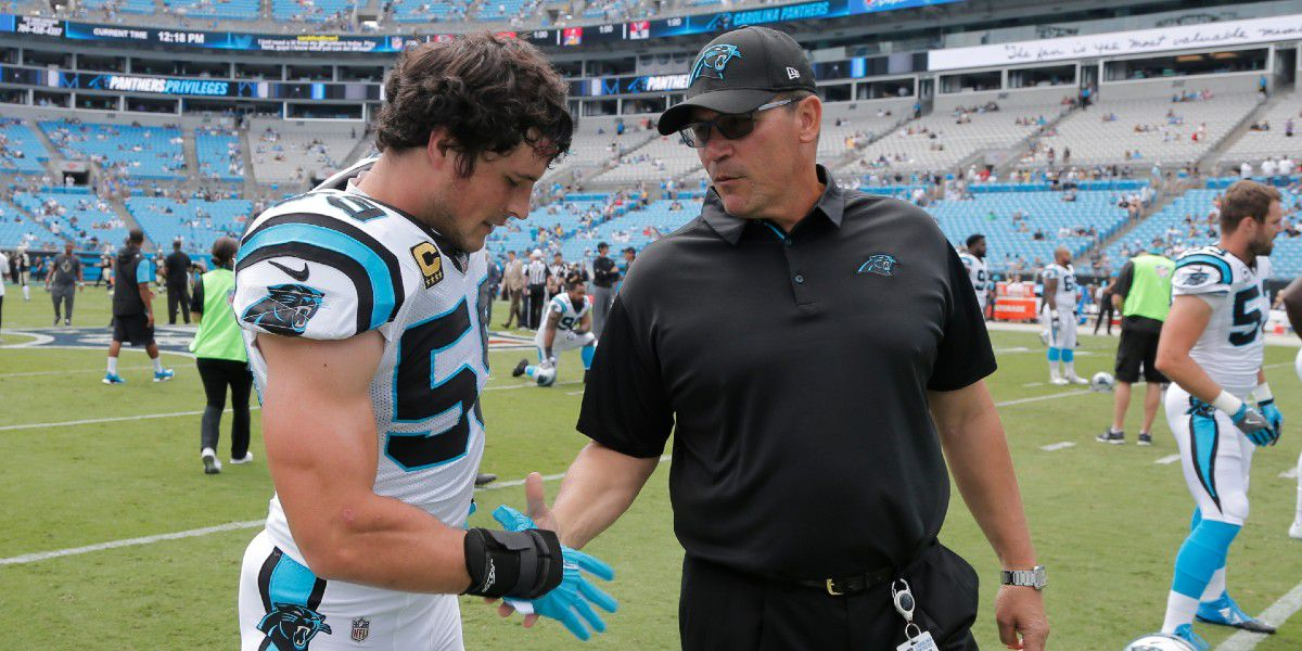 Former Panthers coach Ron Rivera shares thoughts on Luke Kuechly's retirement