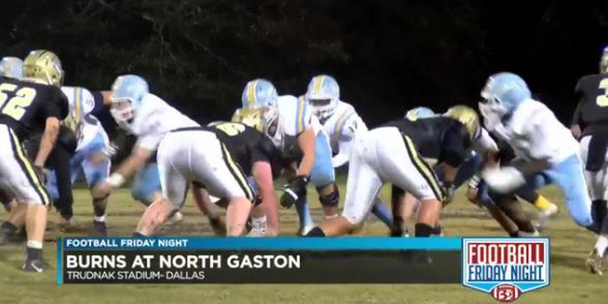Burns at North Gaston