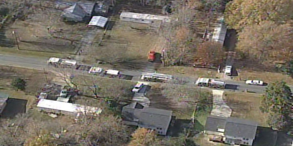 One person injured in Matthews house fire