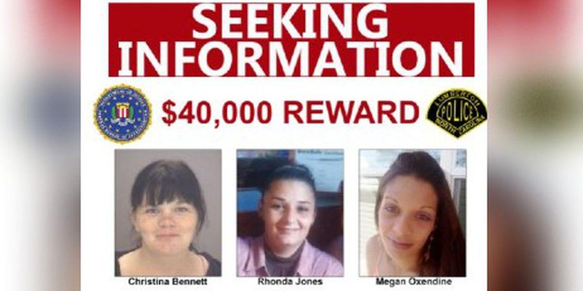 $40,000 reward offered for information on deaths of three N.C. women