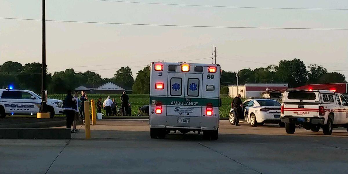 Man sets himself on fire outside Walmart in Athens, Ala.