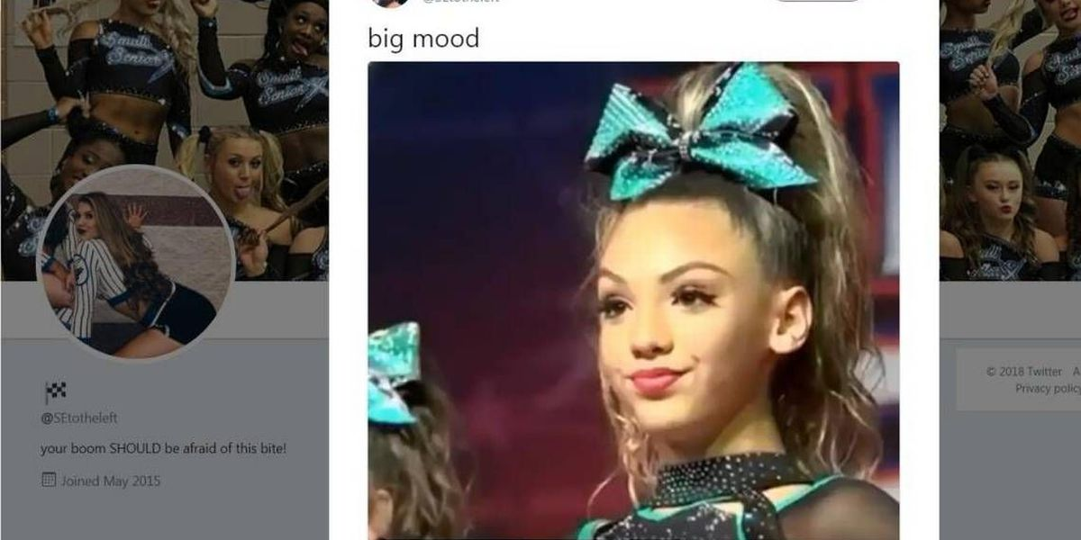 That viral 'sassy' cheerleader meme? The moment was captured in Charlotte.