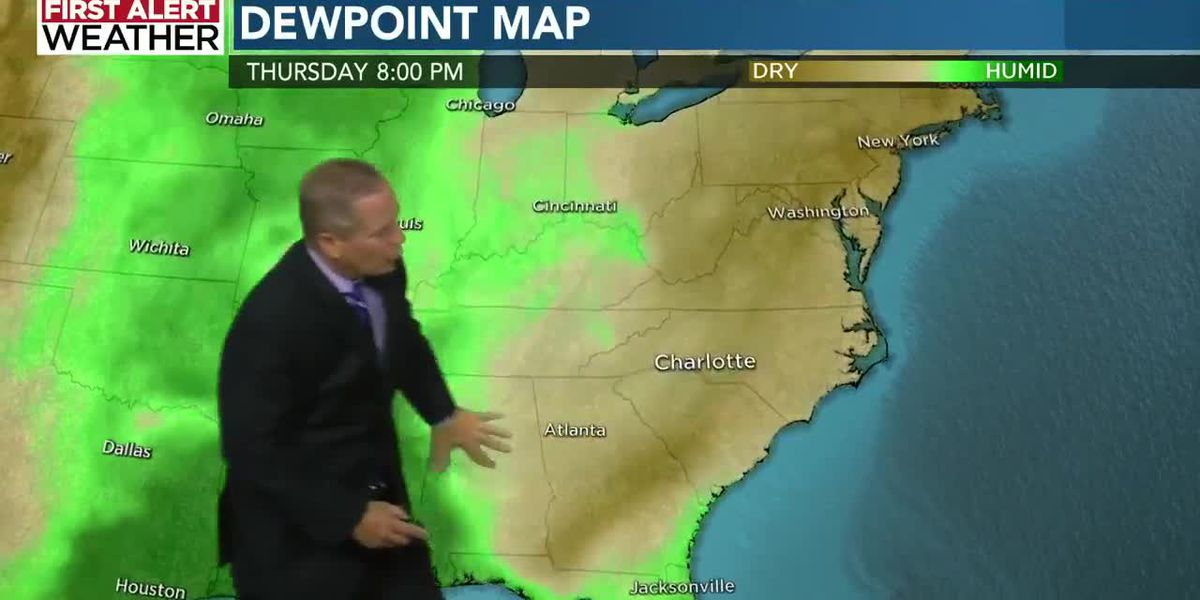 WBTV Thursday morning weather forecast