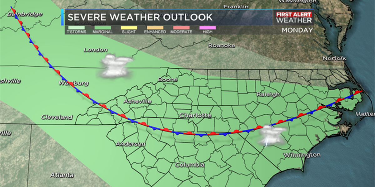 FIRST ALERT: Widespread storms rolling through Monday