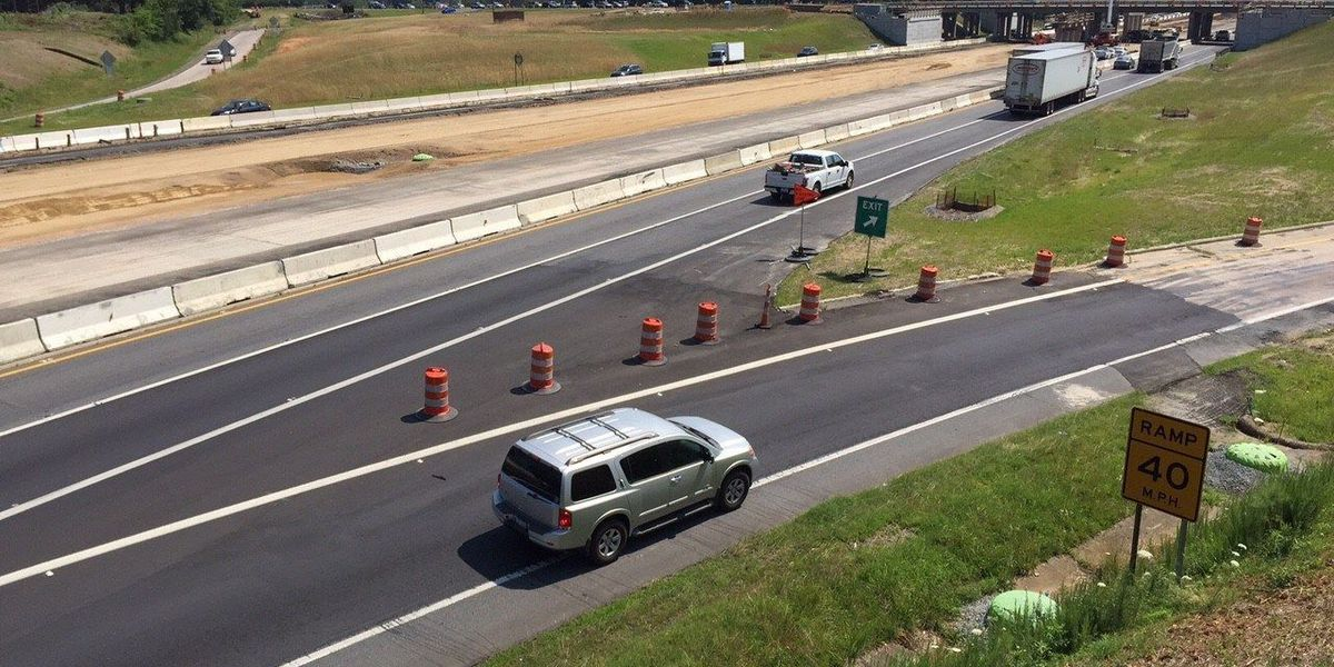 Lane closures coming to I-85 in Cabarrus County