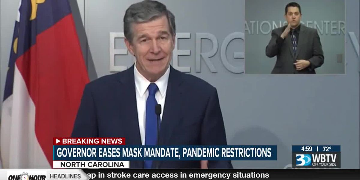 Governor eases N.C. mask mandate, pandemic restrictions