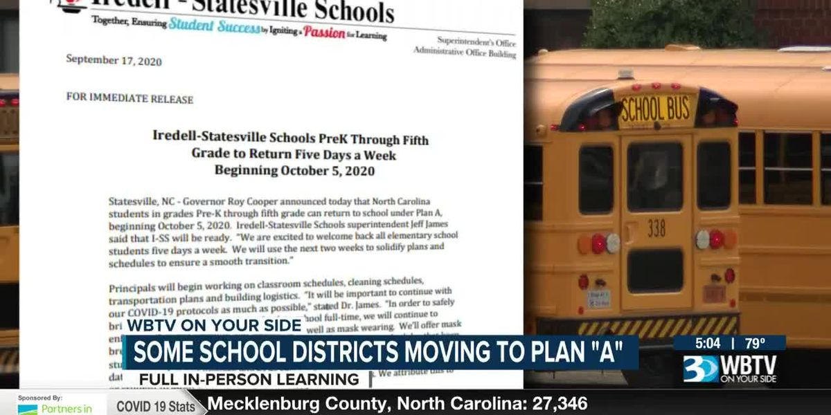 Some local school districts moving to 'Plan A'