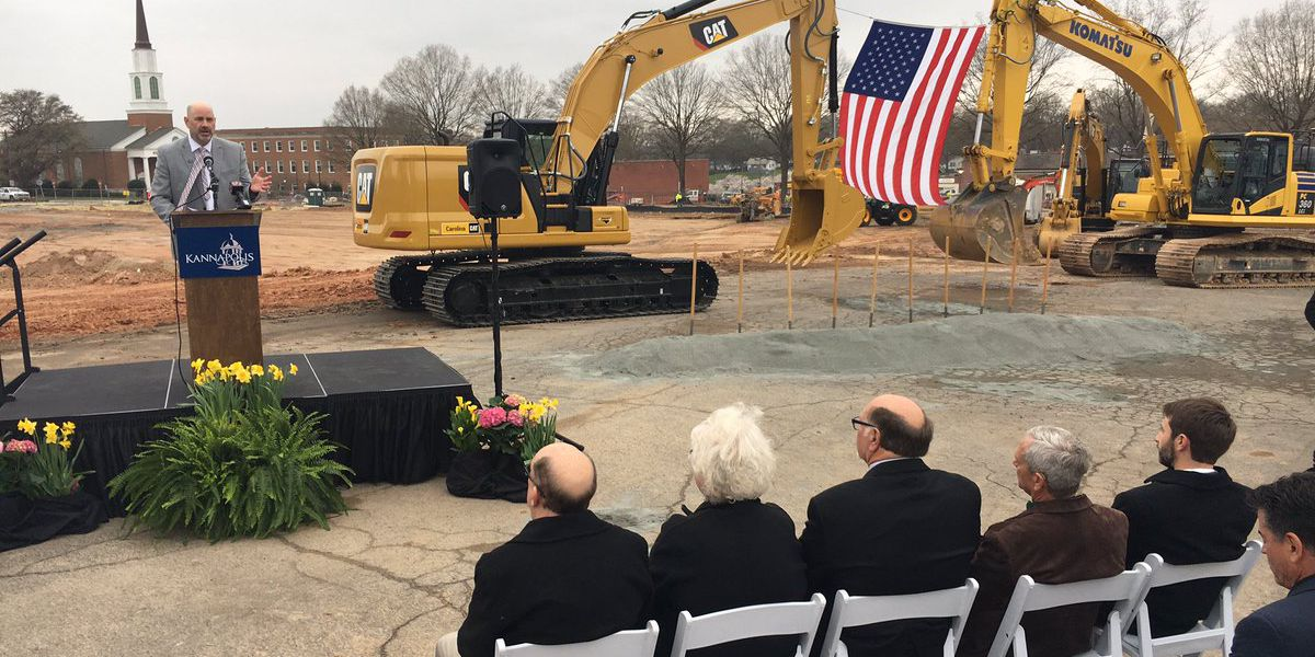 Kannapolis breaks ground on large retail, residential, parking complex in downtown