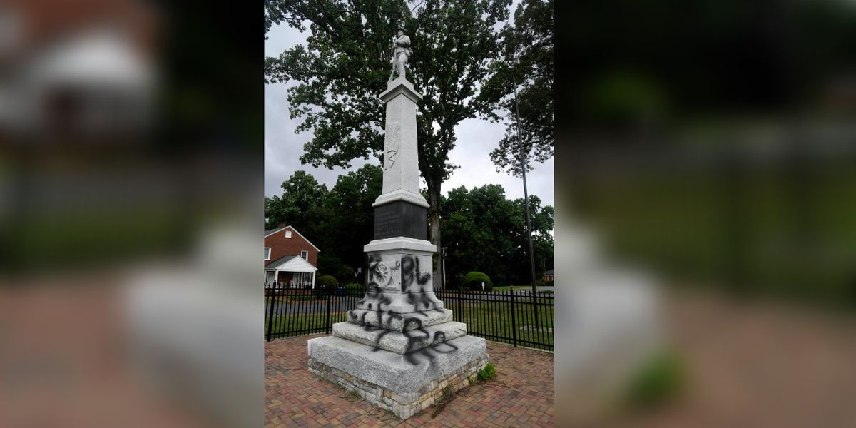3 arrested after Confederate statue defaced again outside NC church, police say
