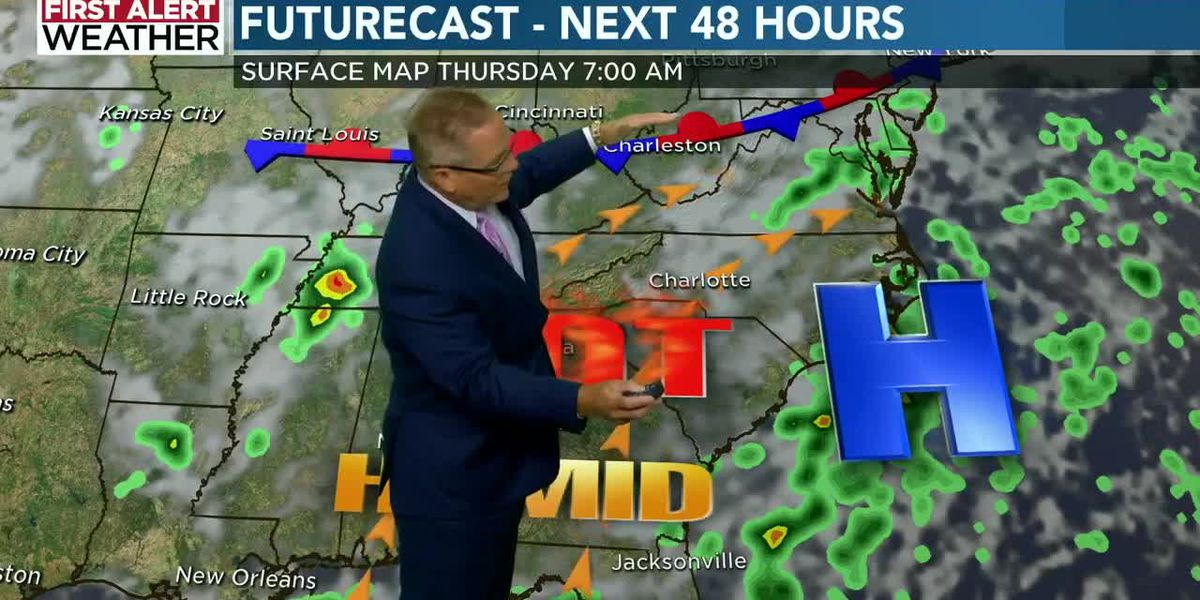 WBTV Wednesday morning weather forecast