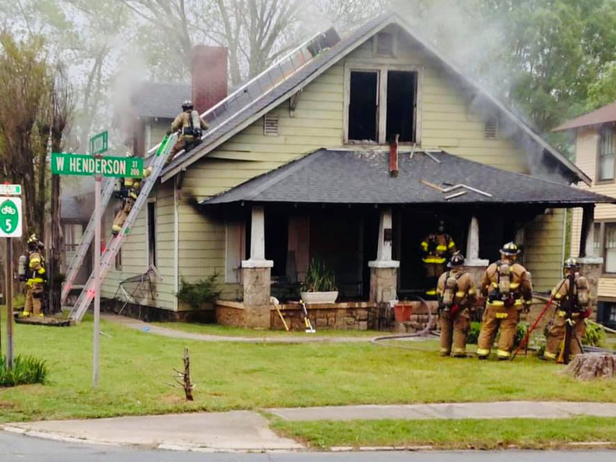 Fire heavily damages home on West Henderson Street