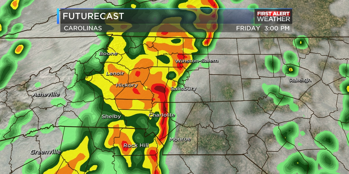 FIRST ALERT: Heavy rain, large hail and damaging winds on tap for Friday