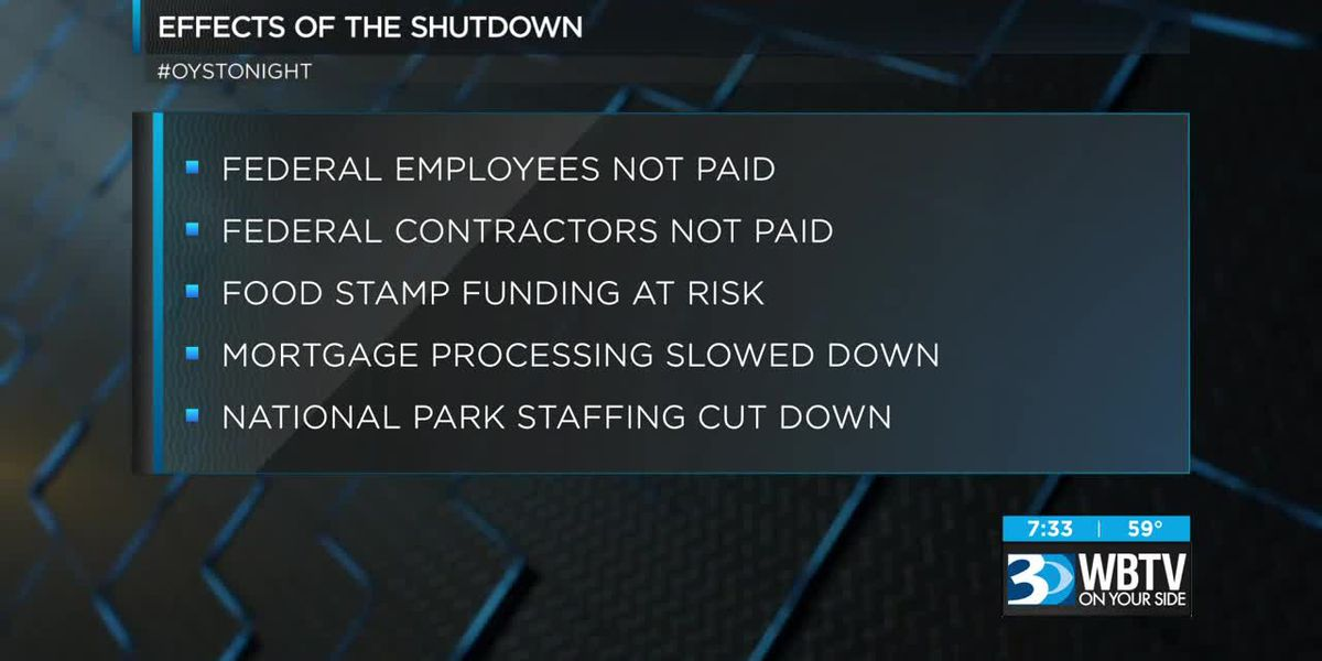 Effects of a lengthy government shutdown