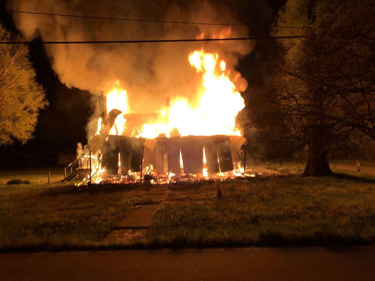 Crews battle house fire in Salisbury
