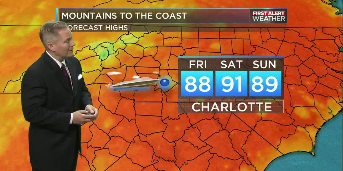 A preview of Summer ahead with temps peaking into the 90s