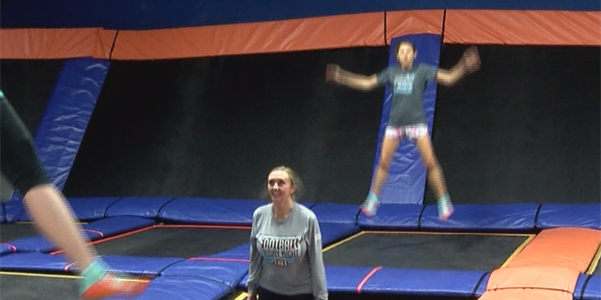 Kristi O'Connor tries out SkyFit workout at Skyzone in Pineville