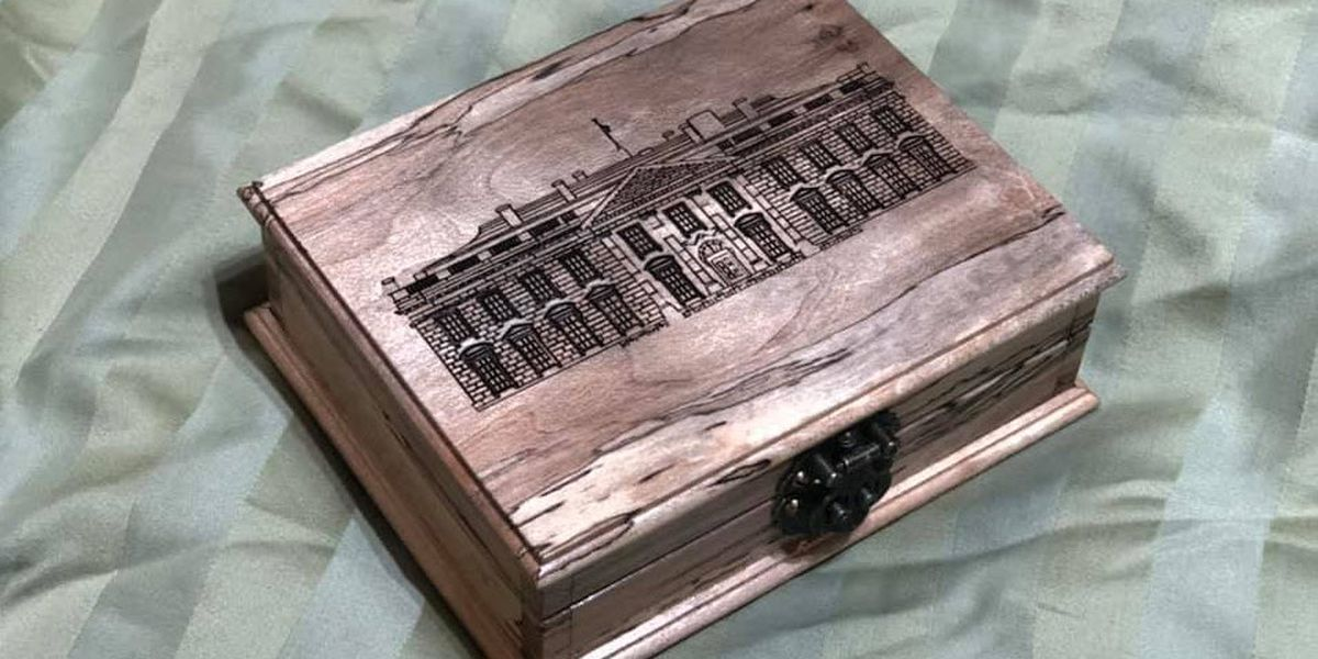 York, SC father-son duo create brooch box for Queen Elizabeth II from President Trump