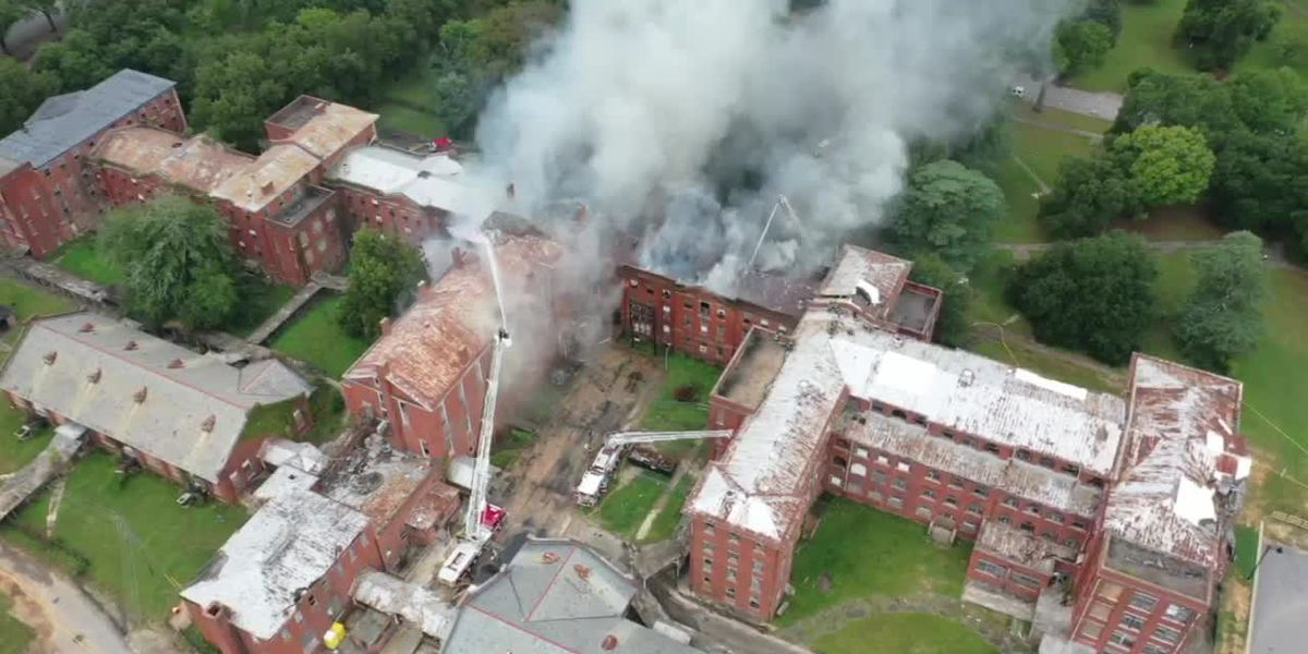 WATCH: Aerial footage of fire at Babcock Building in Downtown Columbia
