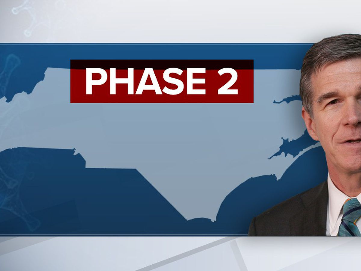 Phase 2 of reopening North Carolina to begin at 5 p.m.