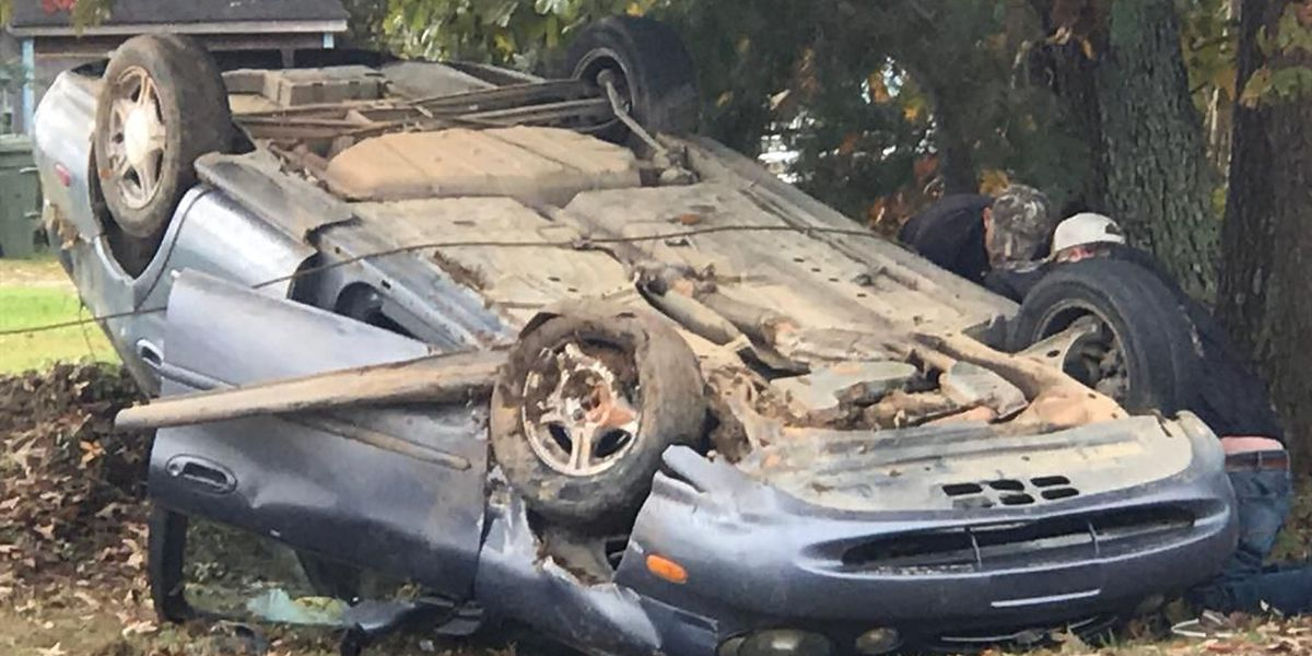 Mother says son injured after car overturns in Dallas