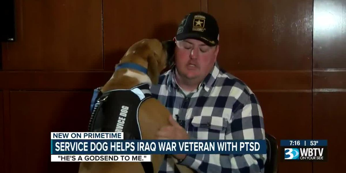 Iraq combat veteran winning battle with PTSD thanks to service dog