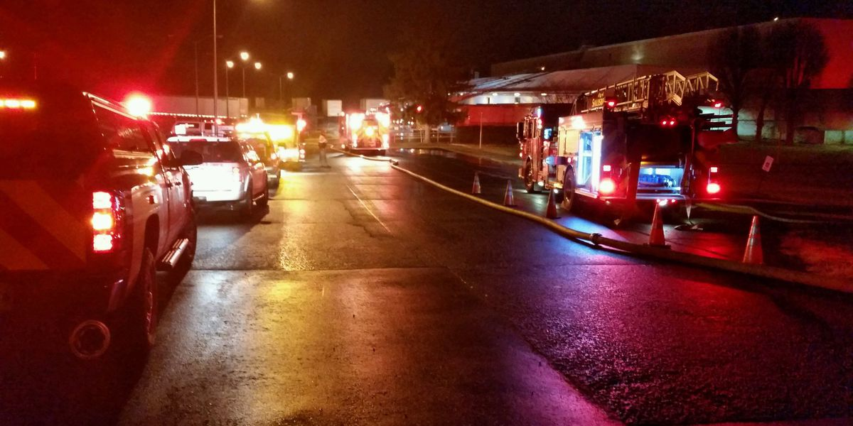Three alarm fire sparks at Salisbury business