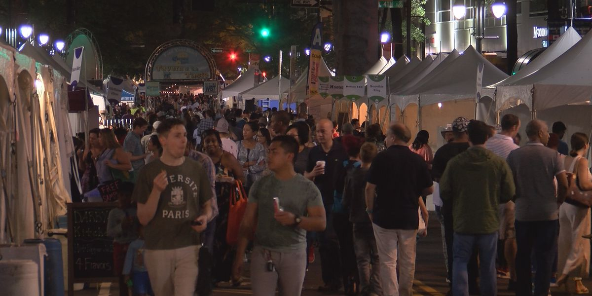Night one of Taste of Charlotte draws big crowds despite earlier rainy weather