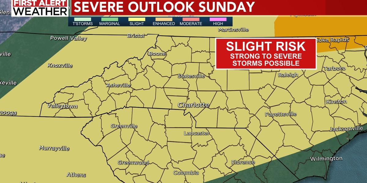 First Alert Sunday: Strong to severe storms possible during the day