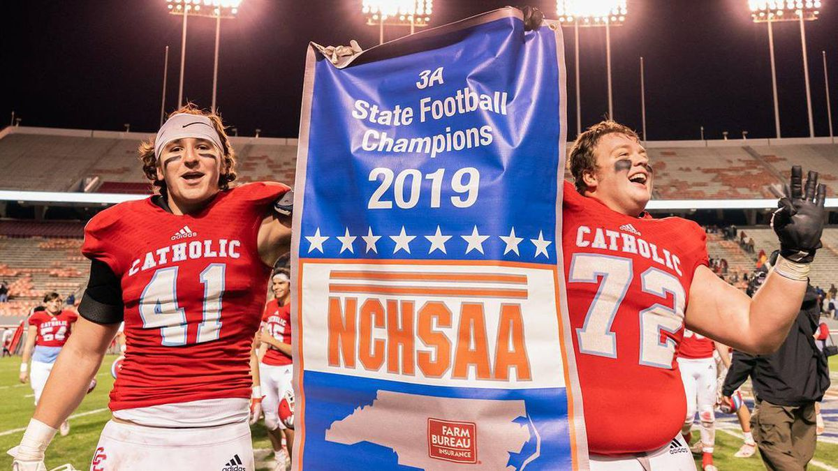 On state championship Saturday, Vance, Catholic, Weddington flex muscles, make memories