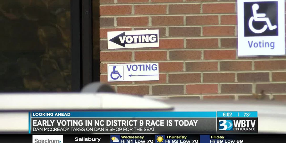 Early voting starts in NC District 9 race