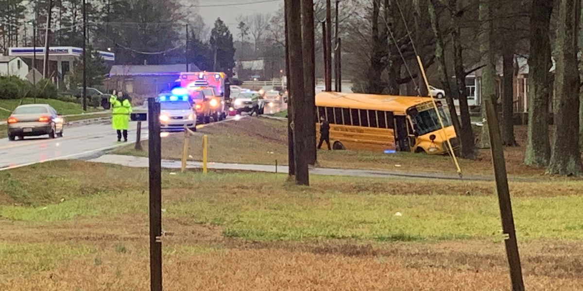 Three injured in school bus crash in northwest Charlotte