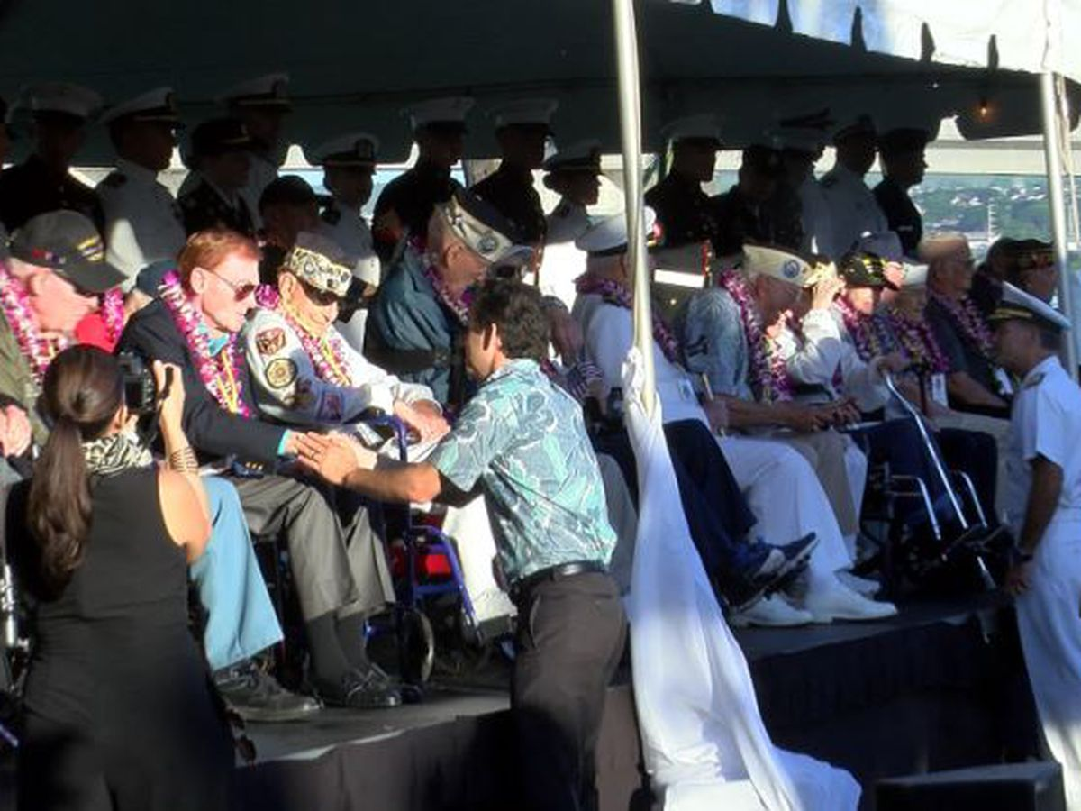 78 years ago, bombs fell on Pearl Harbor. Vets paused to remember the tragic day