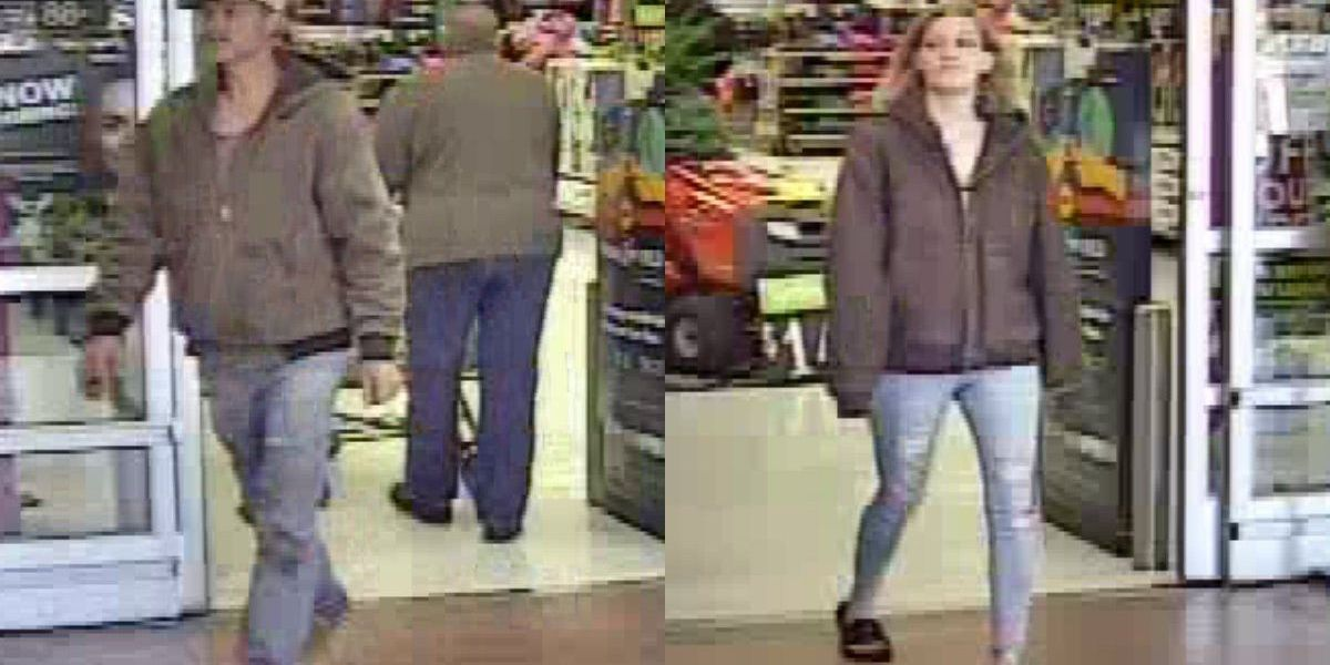 Pair wanted for stealing TV, other items form Walmart in Boone