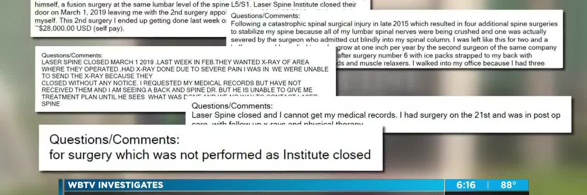 Family stuck with huge bill after medical institute suddenly closes
