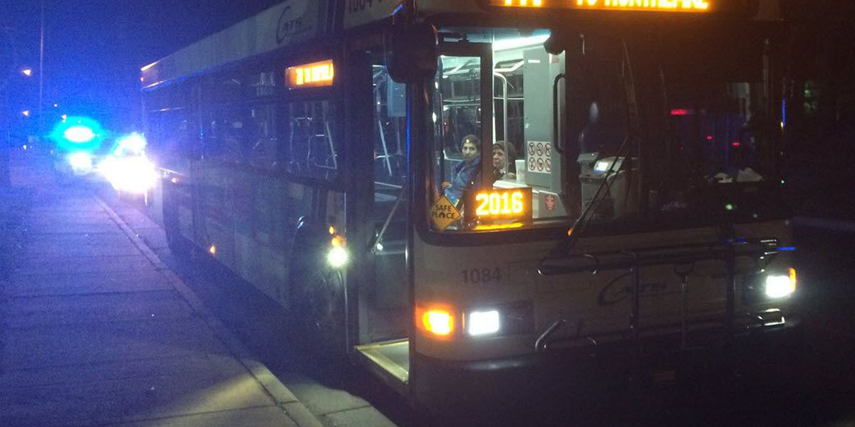 Person struck by CATS bus moments after getting off