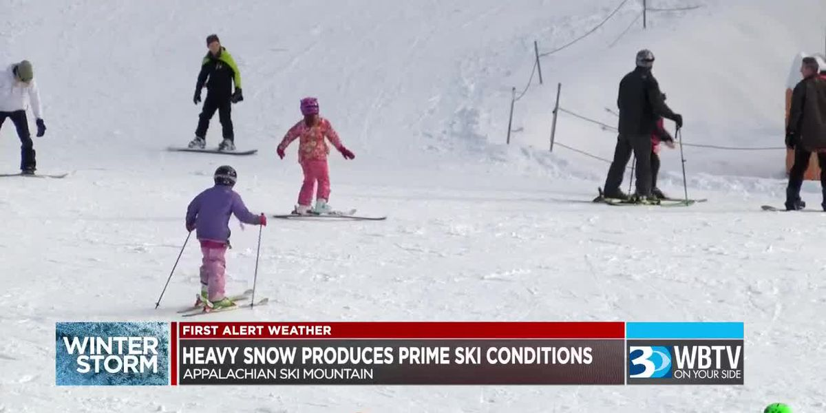 Skiers hit slopes at Appalachian Ski Mountain after winter storm