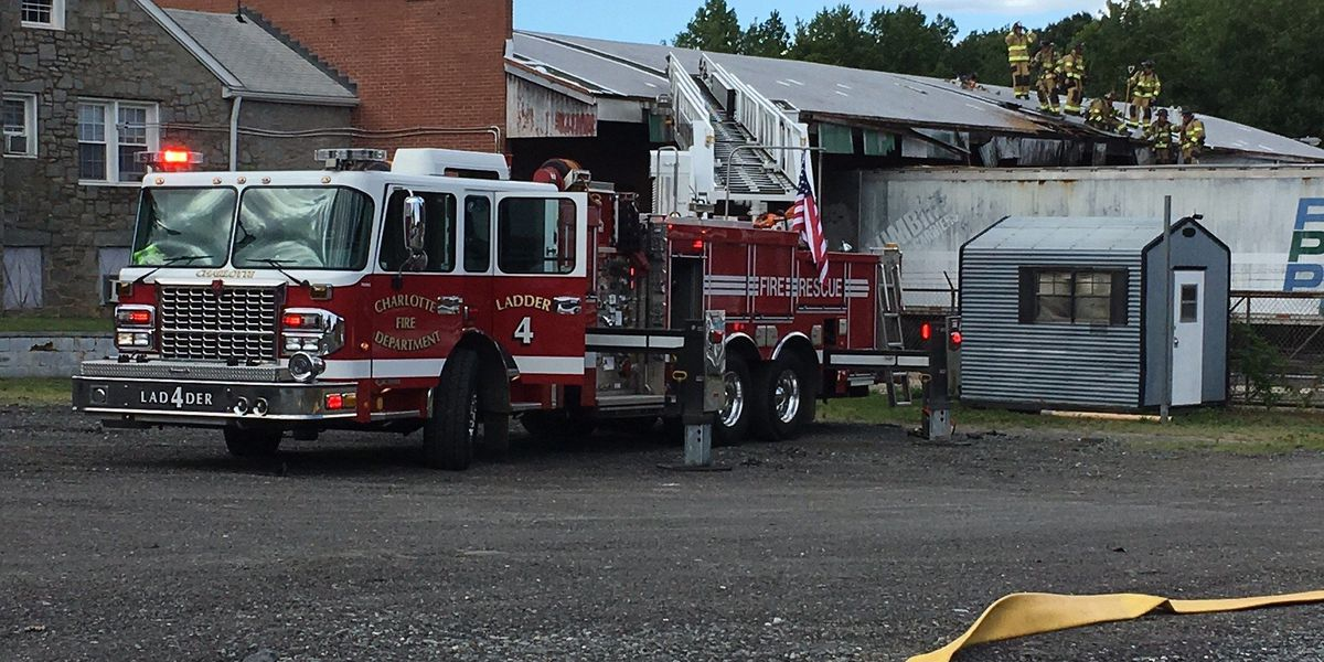 No one injured in business fire near NoDa