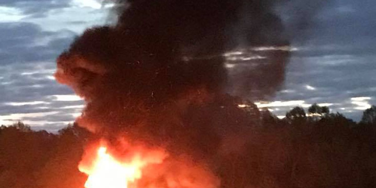 Tractor-trailer catches fire in Gaston County, shuts down portion of Highway 321