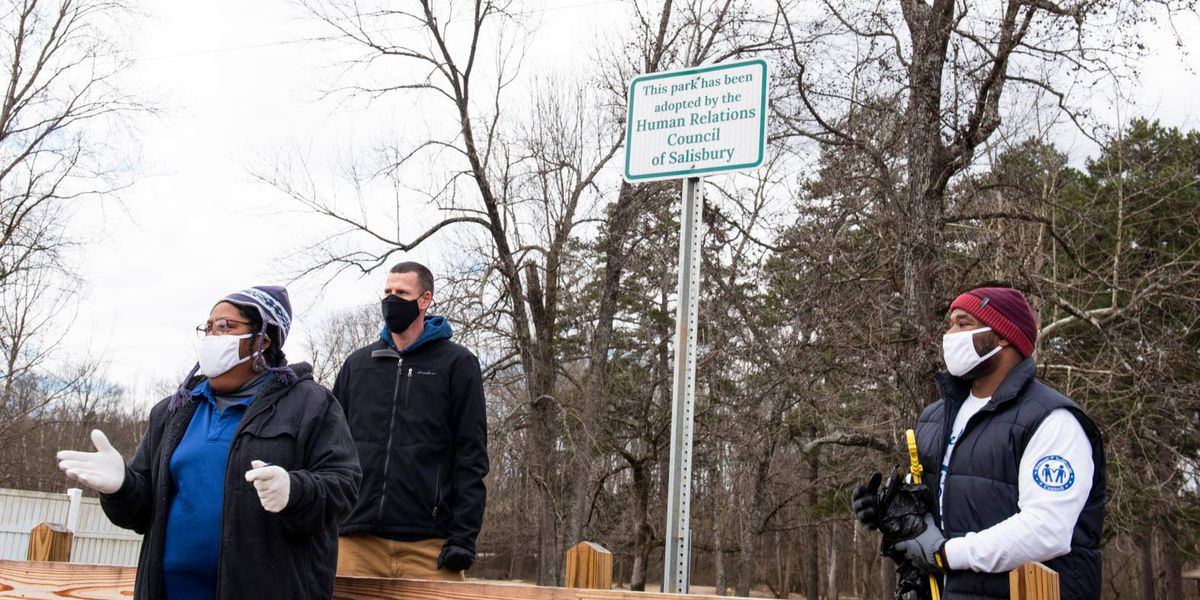 Salisbury-Rowan Human Relations Council adopts local park on day of service