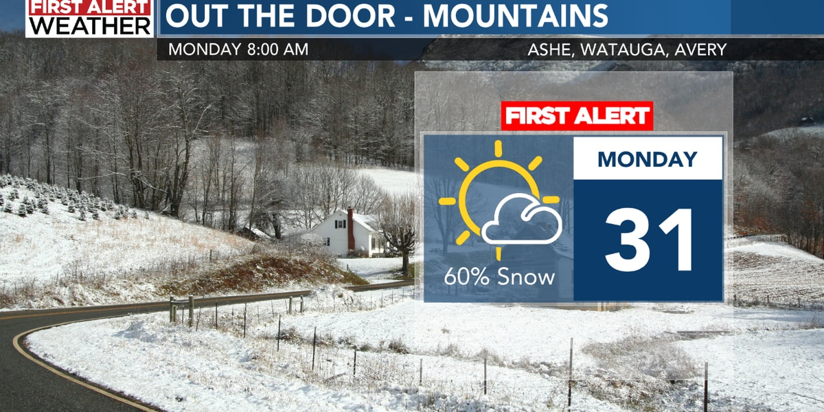 BLOG: First Alert for mountain snow