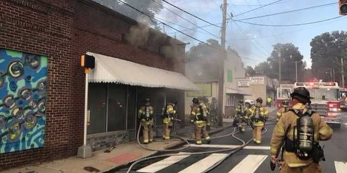 Fire damages building on McGill Avenue in Concord